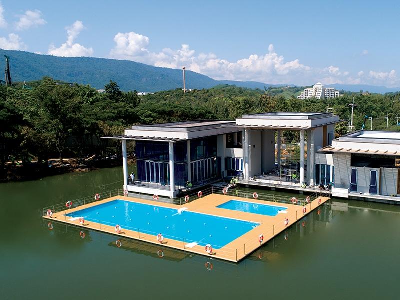 piscines flottantes