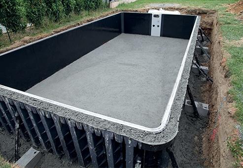 Structure de piscine